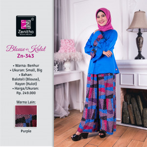 Blouse+Kulot Zn 343