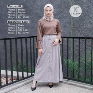 Rok Button Skirt - Kayana